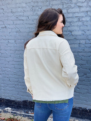 No Troubles Corduroy Jacket - Cream