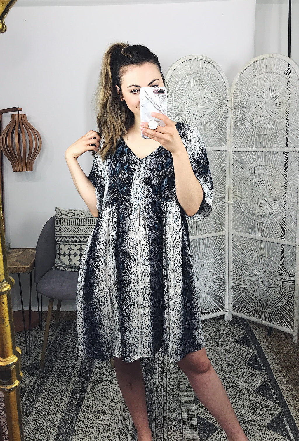 Say It Again Snake Print Dress
