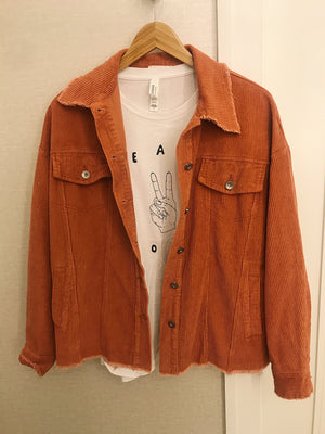 No Troubles Corduroy Jacket - Ginger