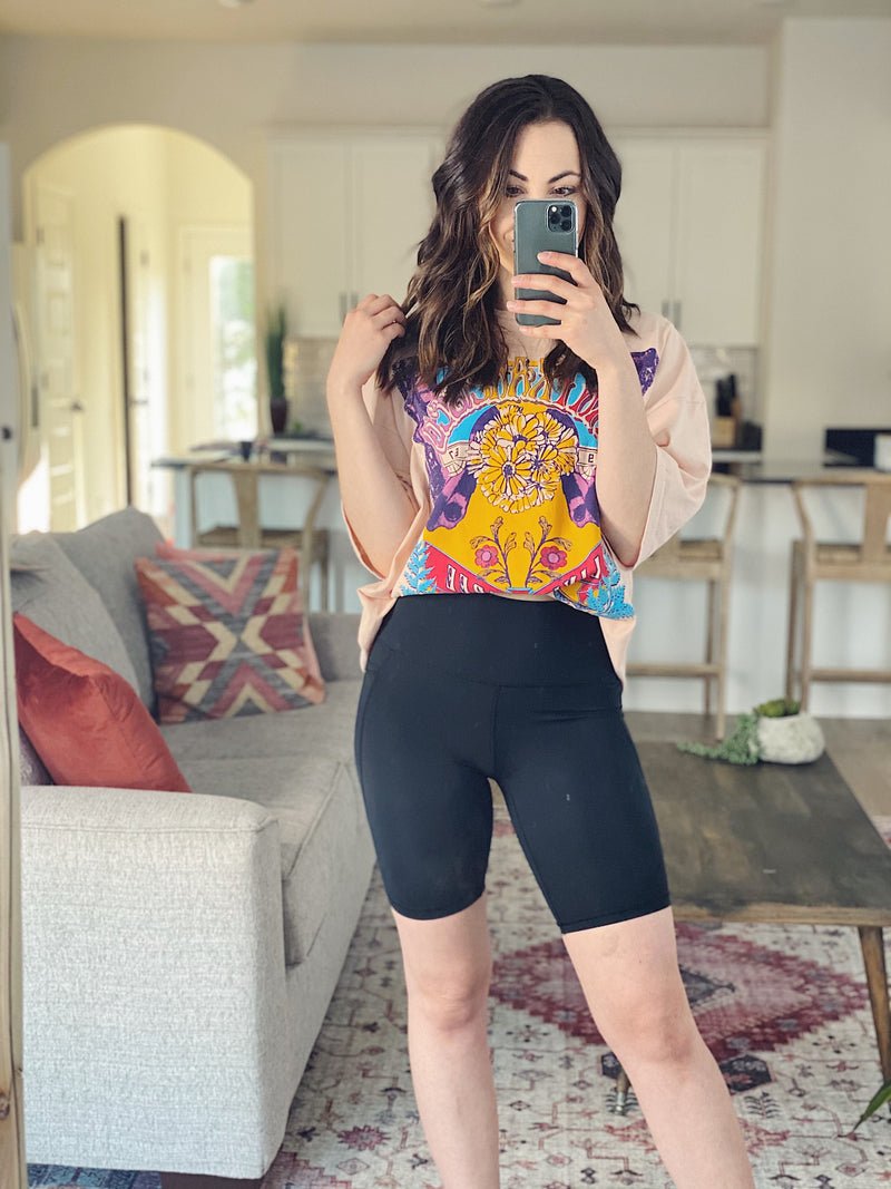 On Record Biker Shorts - More Colors Available