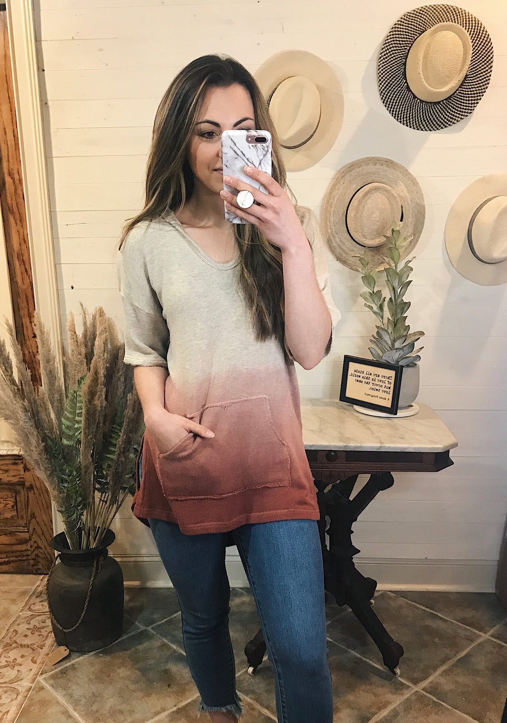 Sunset Ombre Hoodie Top