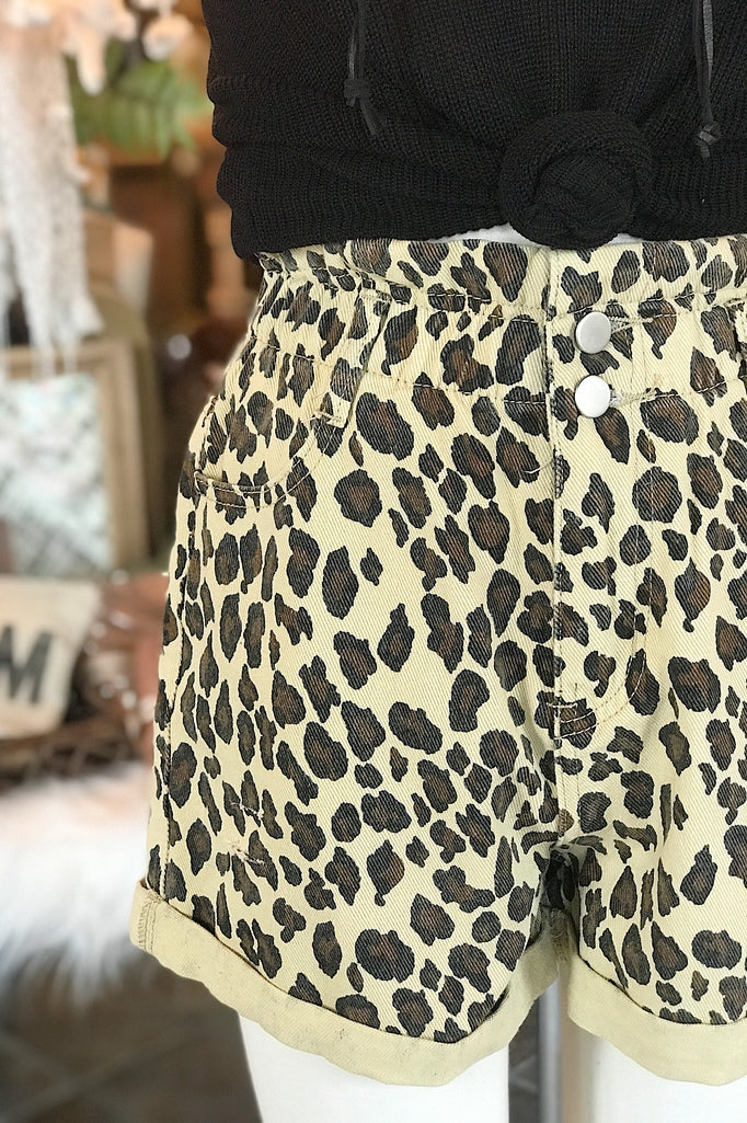To Die For Leopard Shorts