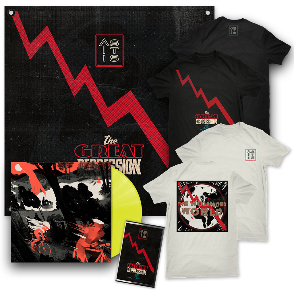 AS IT IS - THE GREAT DEPRESSION: REIMAGINED LP & 2 T-SHIRTS & FLAG & TAPE - BUNDLE
