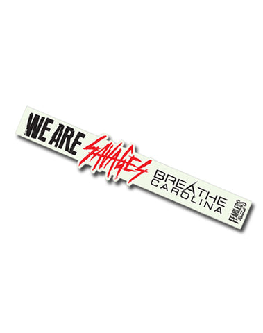 BREATHE CAROLINA SAVAGES WRISTBAND (WHITE)