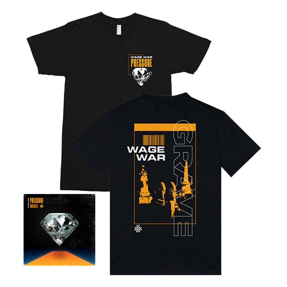 WAGE WAR PRESSURE  CD + T-SHIRT BUNDLE