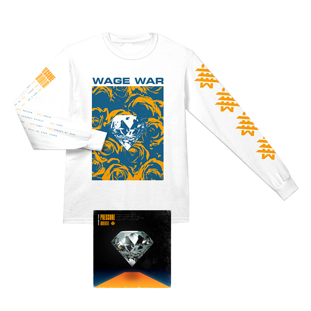 WAGE WAR PRESSURE  LP + LONG SLEEVE T-SHIRT BUNDLE
