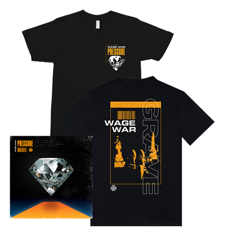 WAGE WAR PRESSURE  LP + T-SHIRT BUNDLE