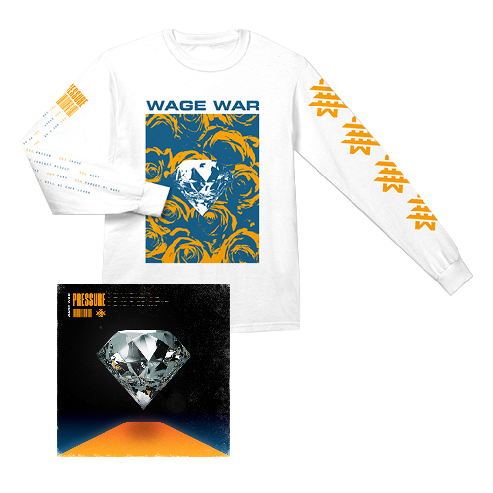 WAGE WAR PRESSURE  LP + LONG SLEEVE T-SHIRT + PIN BUNDLE