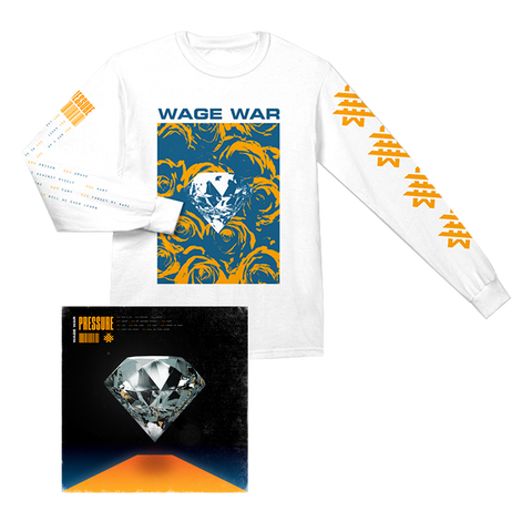 WAGE WAR PRESSURE CD + LONG SLEEVE T-SHIRT BUNDLE