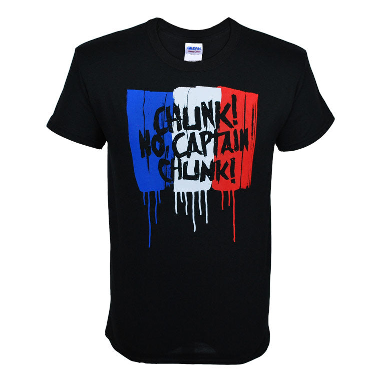 CHUNK! NO, CAPTAIN CHUNK! FLAG T-SHIRT