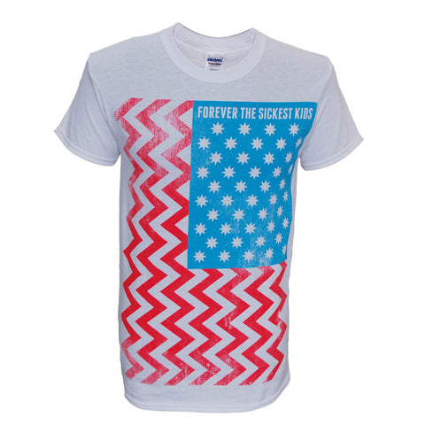 FOREVER THE SICKEST KIDS (US FLAG) T-SHIRT
