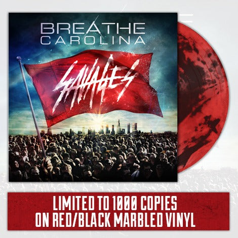 BREATHE CAROLINA (SAVAGES) RED AND BLACK MARBLE VINYL