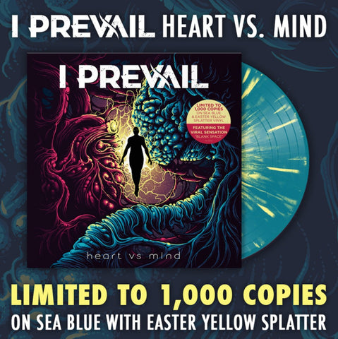 I PREVAIL (HEART VS MIND EP) BLUE WITH YELLOW SPLATTER COLOURED VINYL