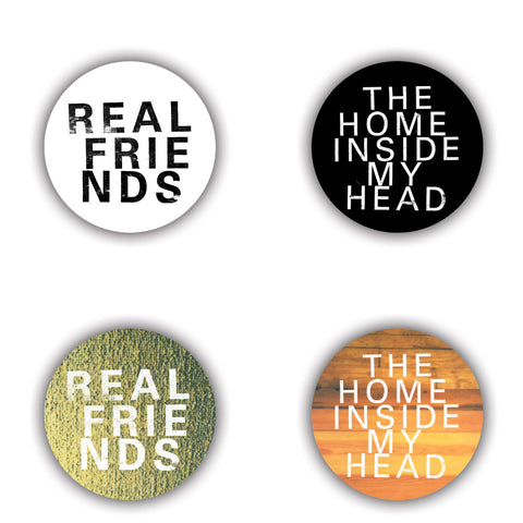 REAL FRIENDS (THE HOME INSIDE MY HEAD) BADGE SET