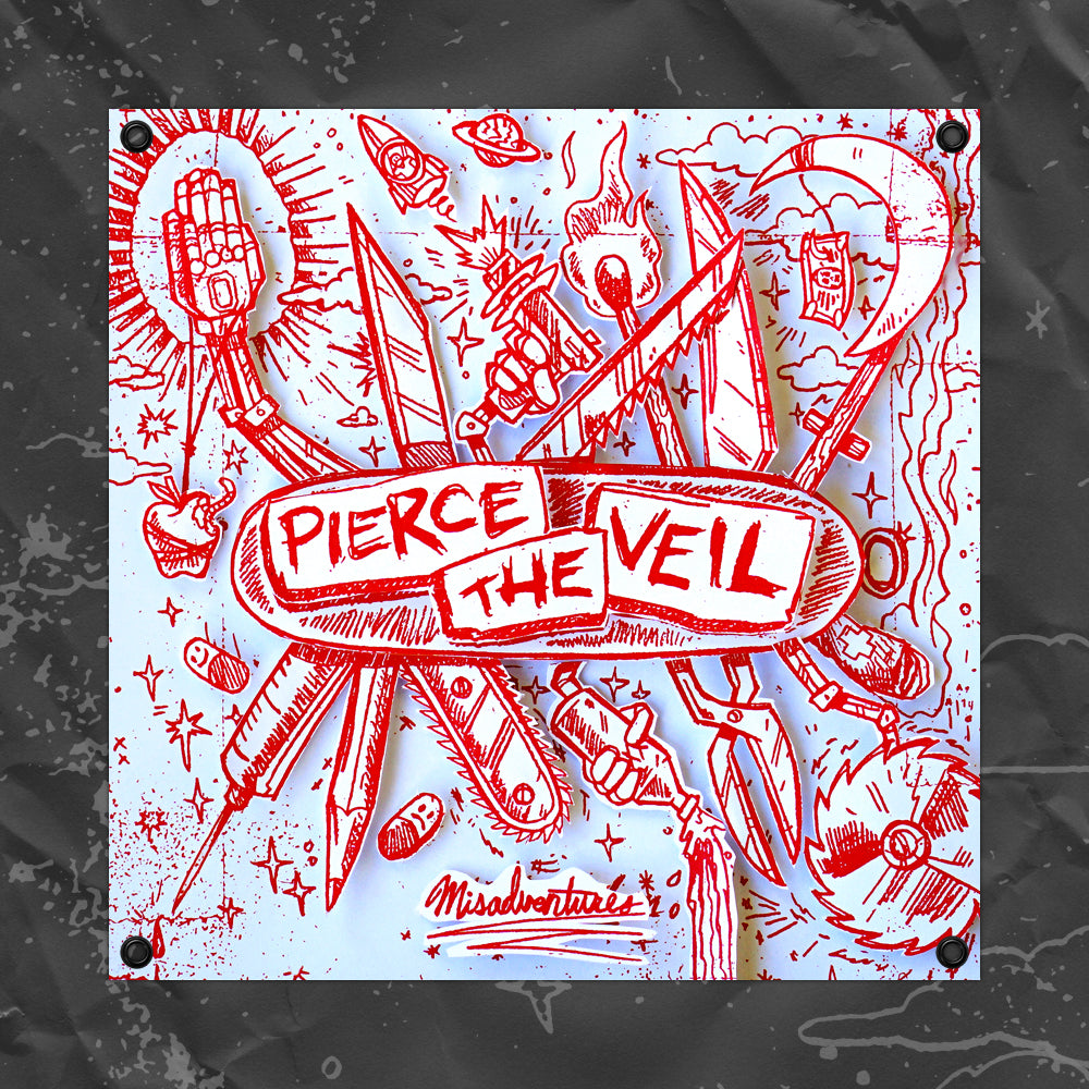 "PIERCE THE VEIL (MISADVENTURES) 40"" X 40"" FLAG"