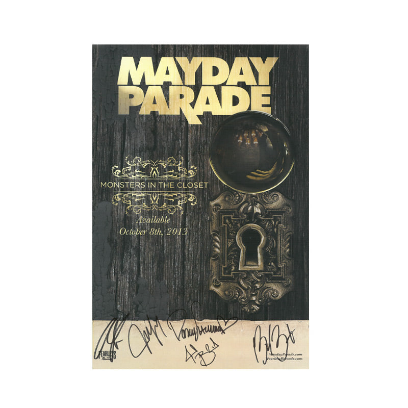 MAYDAY PARADE (MOSTERS IN THE CLOSET) SIGNED POSTER