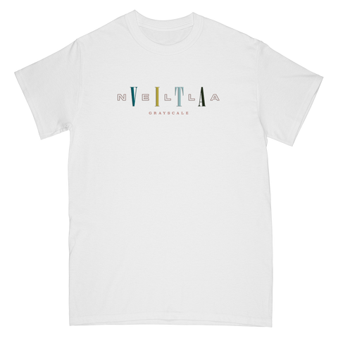 GRAYSCALE (NELLA VITA) WHITE WORDPLAY T-SHIRT