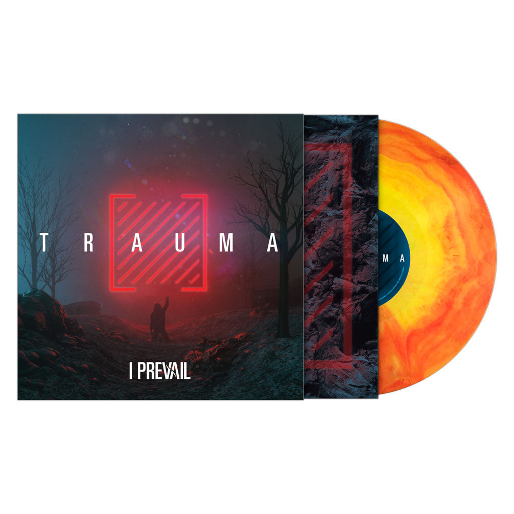 I PREVAIL- TRAUMA VINYL ALBUM - D2C Exclusive / Trans Yellow & Orange Galaxy LP
