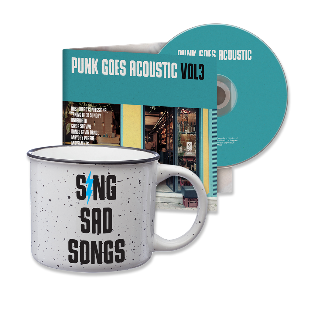 PUNK GOES ACOUSTIC VOL. 3 CD ALBUM + COFFEE CUP BUNDLE