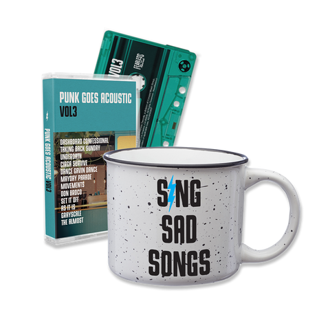 PUNK GOES ACOUSTIC VOL. 3 CASETTE ALBUM + COFFEE CUP BUNDLE