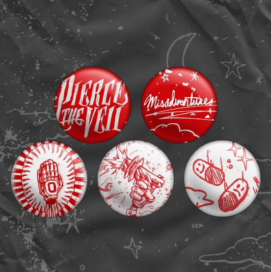 PIERCE THE VEIL (MISADVENTURES) BADGES