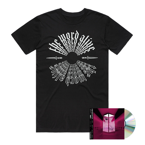THE WORD ALIVE ( MONOMANIA) CD + T-SHIRT BUNDLE