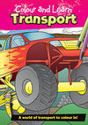 Colour and Learn Transport Designs Colouring Book