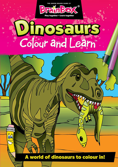 Colour and Learn Dinosaurs Designs Colouring Book