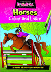 Colour and Learn Horses Designs Colouring Book