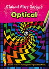 Stained Glass Optical Designs Colouring Book