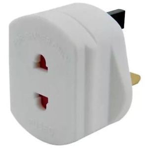 Omega 2 Pin to 3 Pin Electric Shaver Plug Adaptor