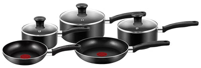 Tefal Essential Black 5 Pieces Cookware Set
