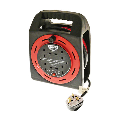 Status S15M13ACR4 13A 4 Way 15m Socket Red Outlet Cable Reel