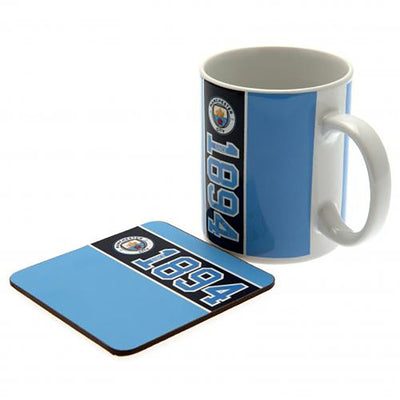 Manchester City Mug and Coaster Gift Set