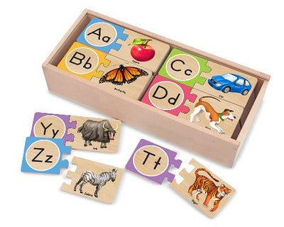Melissa & Doug Self Correcting Wooden Alphabet Puzzles