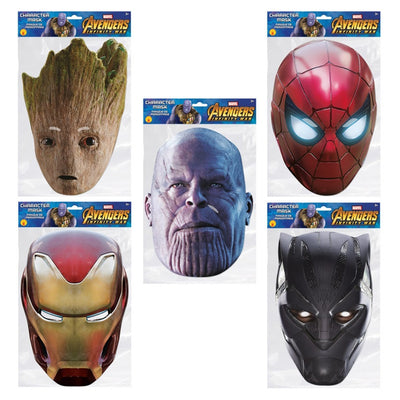Avengers Infinity War Iron Spider Character Face Parties Mask Marvel