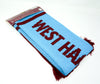 West Ham United FC Scarf Wordmark Design Football Club Team Fan