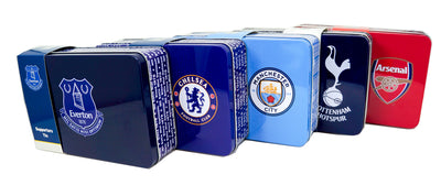 Football Team Storage Tins Boys Girls XMAS Birthday Gift Box