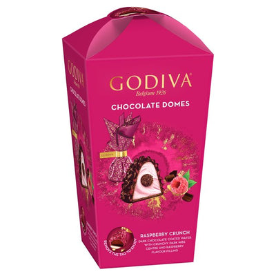 Godiva Domes Dark Chocolate & Raspberry Crunch 150g