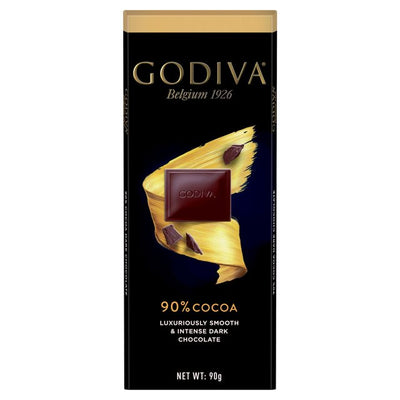 Godiva Pure Dark Chocolate 90% Cocoa Bar 90g