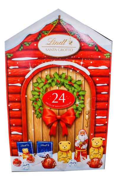 Lindt Santa Grotto Assorted Milk Chocolates 166g