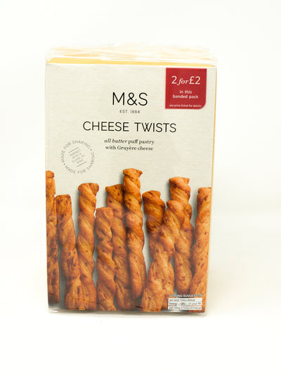 Marks And Spencer Sea Salt & Pepper Or Cheese Twist Butter Puff Pastry
