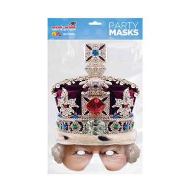 Historical British Queen Ancient Printed Card Fancy Dress Face Masks