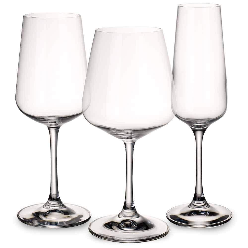 Box of 4 Red Wine Glass Villeroy /& Boch Purismo Full Bodied Wine Goblet 20.8cm