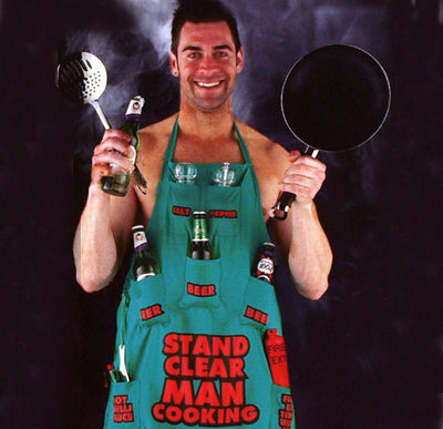 Stand Clear Man Cooking Apron