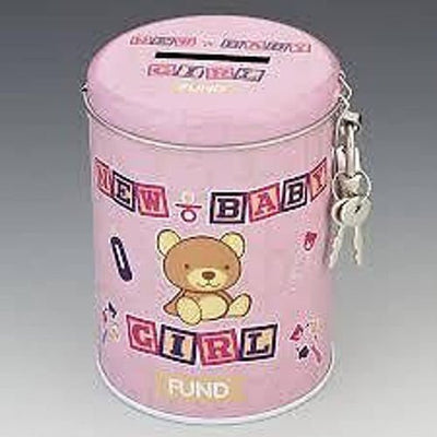 Instant Fines Pay Up Tin - New Baby Girl