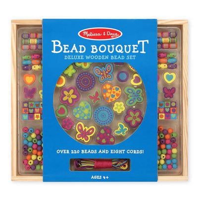 Melissa & Doug - Bead Bouquet Deluxe Wooden Set