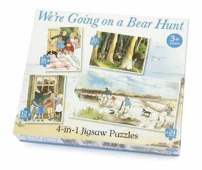 Bear Hunt 4 in 1 Jigsaw Puzzle For Kids Age 3+