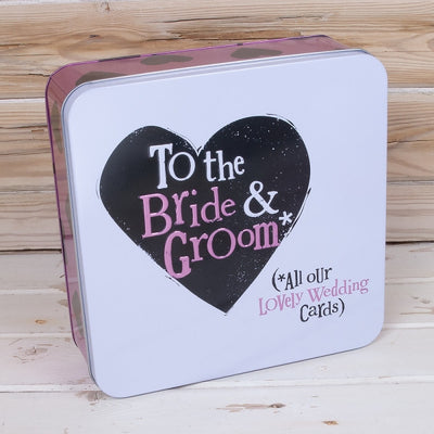 The Bright Side - Bride & Groom Wedding Cards Tin
