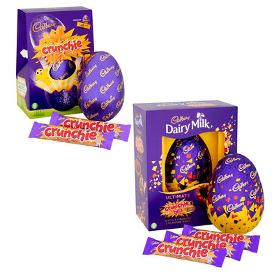 Cadbury Dairy Crunchie Milk Chocolate Bars Easter Egg Ideal Gift Box